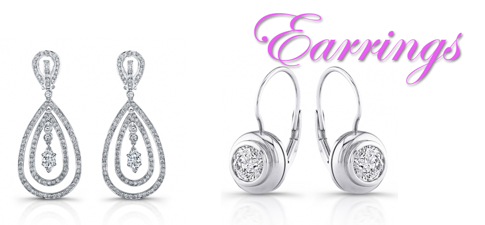Diamond Earrings & Precious Stone Earrings