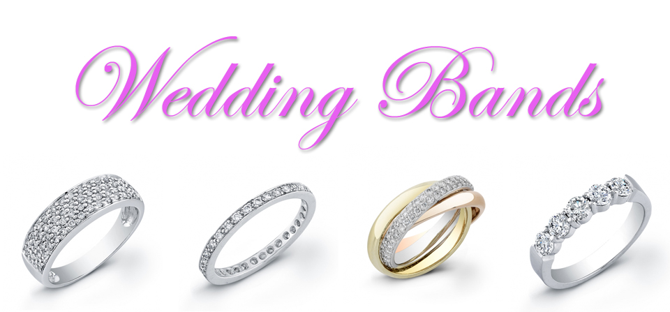 Diamond Wedding Bands & Precious Stones in Gold & Platimium
