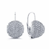 Diamond Earrings in 18 Karat White Gold