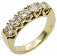 Diamond Gold Wedding Band in 18 karat yellow gold