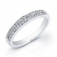 18 KT white gold band with diamonds