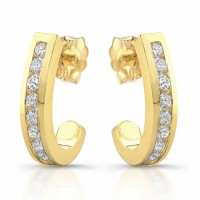 18 karat yellow gold diamond earrings, buy in Los Angeles