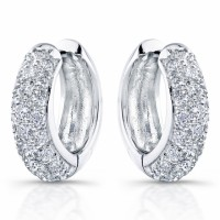 18 Karat Diamond Earrings Pave Set