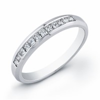 Wholesale diamond wedding band in white 14 karat gold
