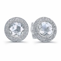 diamond stud earrings with rose cut diamonds 2 carats buy in LA