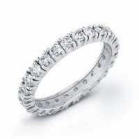 White Gold and Diamond Eternity Band