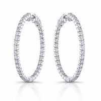 14 KT white gold diamond earrings