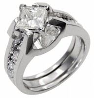 Ladies Diamond Wedding Ring & Band