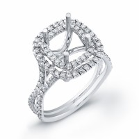 Engagement Ring in White Gold-Wire French Setting