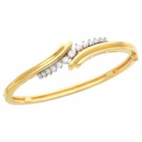 diamond and gold 14 karat bracelet
