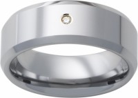 Mens ring band in Tungsten