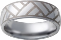 Mens Ring Band w Laser Engraving