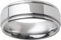 Mens Tungsten Ring Band Groved