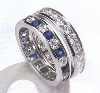 beautiful diamond ring diamond and sapphire ring