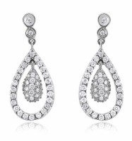 Drop diamond earrings 2.25 carats