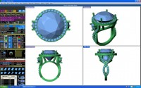 Design your own ring with a Wax Ring Design for gold and diamonds